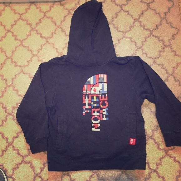 d88236db5 North Face black hoodie OLYMPICS flag logo youth S